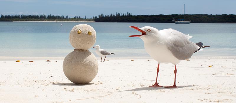 Bonhomme de sable sur l'Ile des Pins